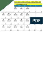 Cronograma Del Regado de Las Áreas Verdes - Copia