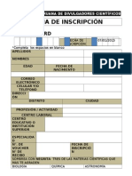 Ficha Science Card