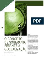 o Conceito de Soberania Perante a Globalização