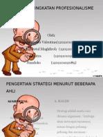 Strategi Peningkatan Profesionalisme Guru