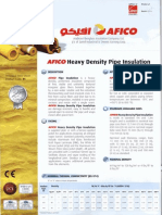 AFICO Heavy Density Pipe Insulation - New