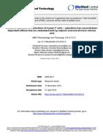 BMC Pharmacology and Toxicology