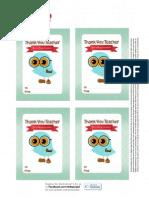 Teacher Owl Tags