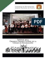 Informe Orquesta Infanto Juvenil