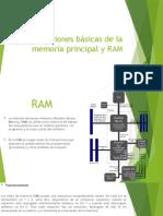 Funciones Básicas de La Memoria Principal y RAM