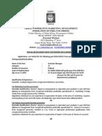 Recruitment 2015