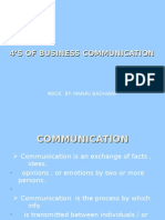4'S OF BUSINESS COMMUNICATION