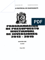 presupuesto multianual 2013