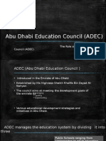 The Role of Abu Dhabi Education Council