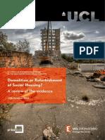 Report Refurbishment Demolition Social Housing
