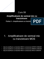 Curs 08 Amplificatoare de Semnal Mic Cu Tranzistoare MOS