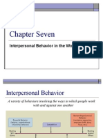 Interpersonal Behaviour in the work place