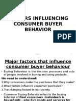 Factors Influencing Buyer Behavior