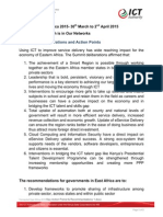 Connected East Africa 2015 Key Action Poinst & Recommendations 1