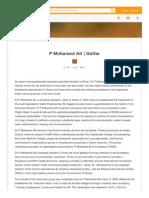 Career of Dr P Mohamed Ali