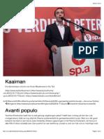Kaaiman | Avanti populo