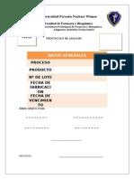 Modelo de Protocolo de Analisis