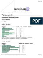 Plan de estudio | Universidad de León