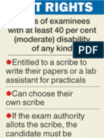 Examination Rights of Disabled in India Om 20130226