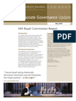 Corporate Governance Update (HIH)