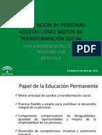 La educación de personas adultas como motor de transformación social