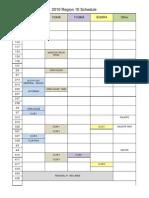 2010 R10 Schedule