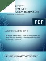 Latest technology  Development In the field of  IT(information technology)