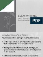 five paragraph essay - introduction