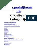 Adresar www.podsljivom.rs kategorije