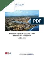 Arta. Relazione aria pescara 2014