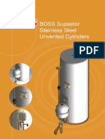 BOSS Supastor Stainless Steel Unvented Cylinders