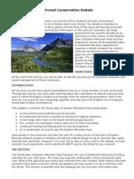 forest conservation debate 2015