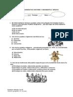 Evaluación diagnostica historia 2° basico