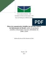 Fluxo da comunicação científica na área de Ciência da Informação no Brasil