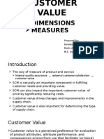 Customer Value Dimensions and Measures