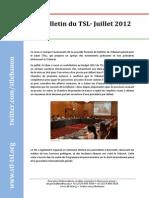 Bulletin du TSL - Juillet 2012