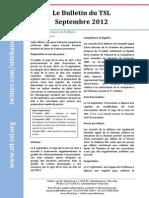 Bulletin du STL - Septembre 2012