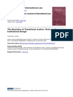 The Geometry of Transitional Justice