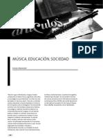 Musica Educacion y Sociedad