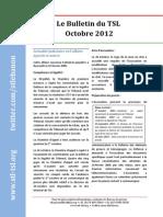 Bulletin du TSL - Octobre 2012