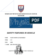 Safety Features of the Vehicle - Physic Folio 2015