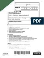 Chemistry IAL Jan 2015 (Paper 3)