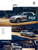 Volkswagen Golf Brochure 2014