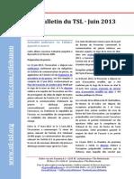 Bulletin du TSL - Juin 2013
