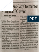 No Excuse Lady to Mentor Women at EO Event Doha, Qatar