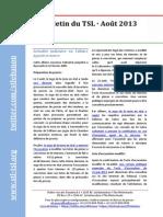 Bulletin du STL - Août 2013
