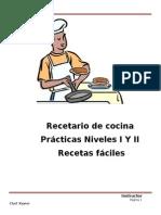 Manual de Recetas. Practicas  de cocina Niveles I y II       Fundapi Nivel I y II Scrib