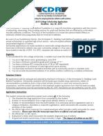 Cdr Scholarship Applicationfinal v4.1 4.28.15