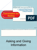 Conv 1 - 3rd Meeting- Asking and Giving Information