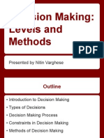 Decision Making Levels and Methods